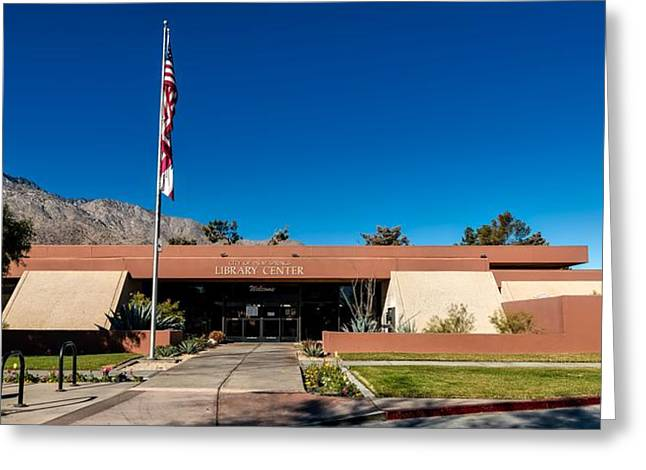 Palm Springs Library Greeting Card by Mountain Dreams