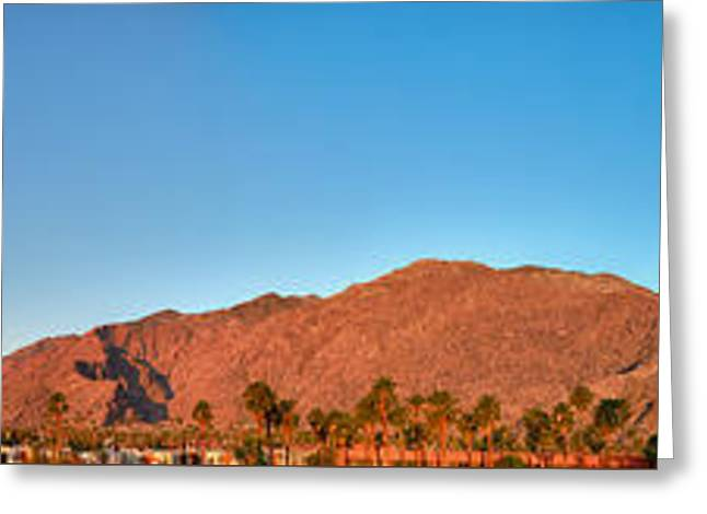 Palm Springs Sunrise Greeting Card by Scott Campbell