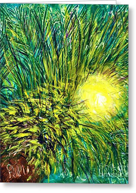 Palm Sunburst  Greeting Card