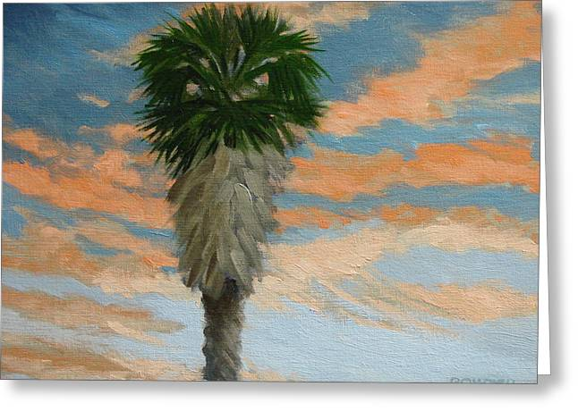 Palm Sunrise Greeting Card by Robert Rohrich