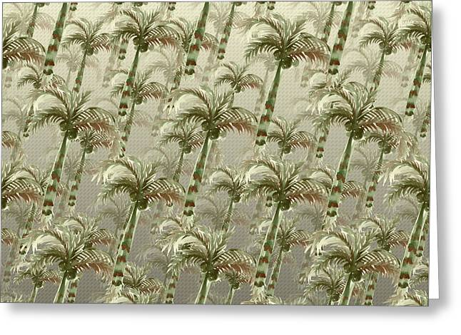 Palm Tree Grove Greeting Card