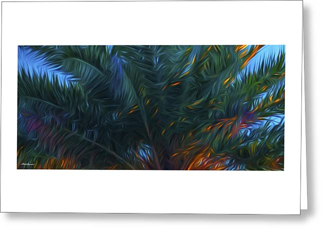 Palm Tree In The Sun Greeting Card by Glenn Gemmell
