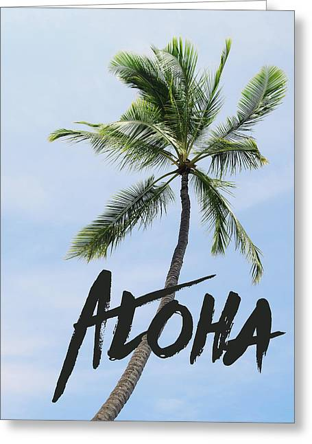 Palm Tree Greeting Card by Nastasia Cook
