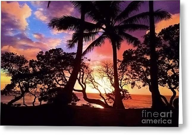 Palm Tree Silhouette Greeting Card
