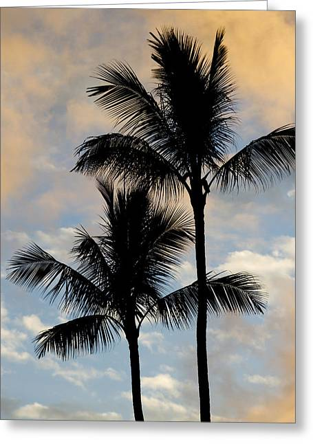 Palm Tree Sunset Hawaii Greeting Card