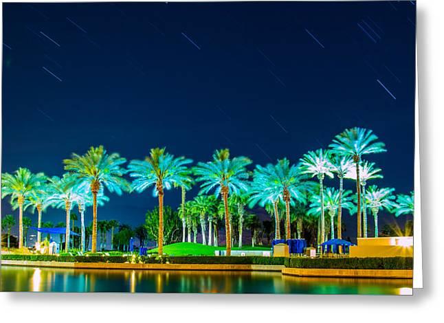 palm Trees Greeting Card by Hyuntae Kim