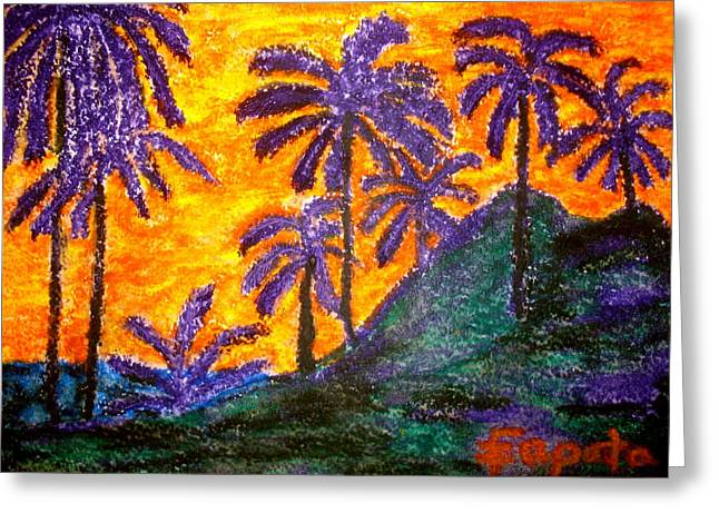 Palm Trees In Paradise Greeting Card