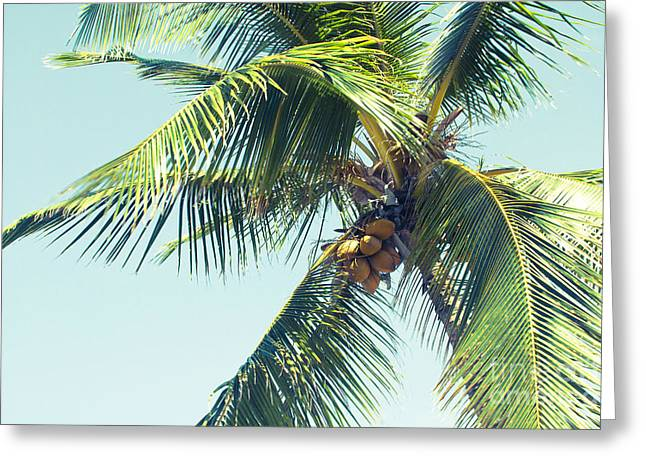 Palm Whispers Greeting Card by Sharon Mau