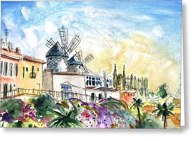 Palma De Mallorca Panoramic 03 Greeting Card by Miki De Goodaboom