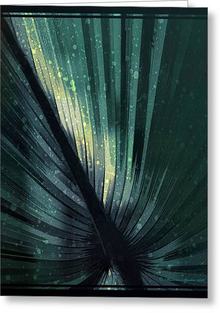 Palmetto Embrace-blue Yellow Greeting Card by Marvin Spates