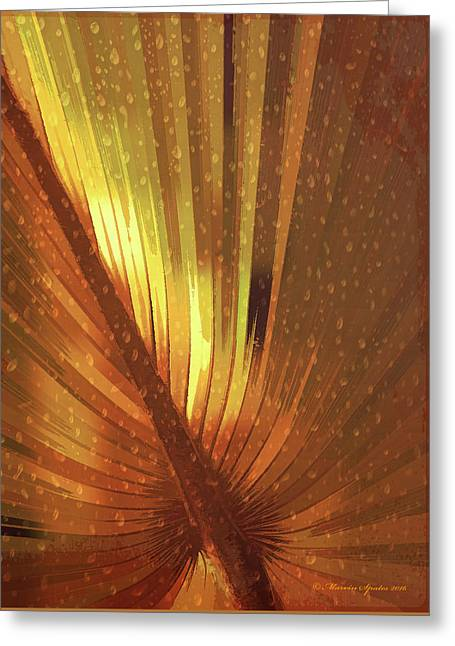 Palmetto Embrace-golden Greeting Card by Marvin Spates