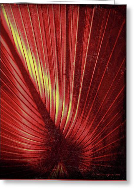 Palmetto Embrace Red Yellow Greeting Card by Marvin Spates