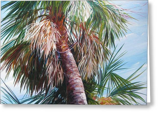 Palmetto In Acrylics Greeting Card