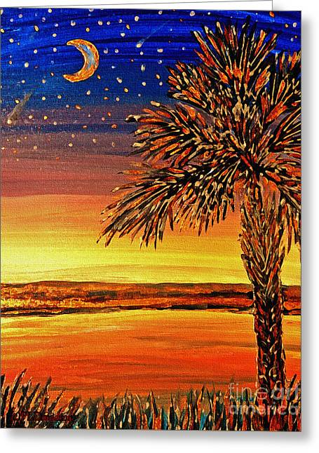 Palmetto Sunset  Greeting Card by Patricia L Davidson