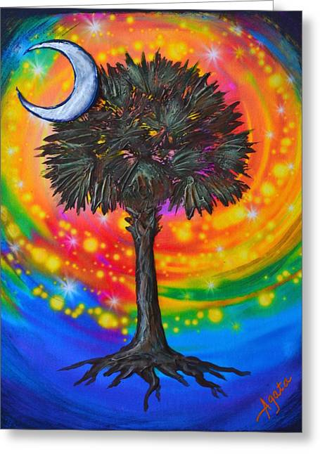 Palmetto Tree Of Life Greeting Card