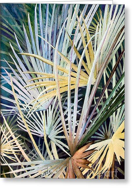 Palms   Original Greeting Card