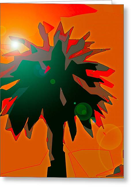 Palms 5 Greeting Card by Pamela Cooper