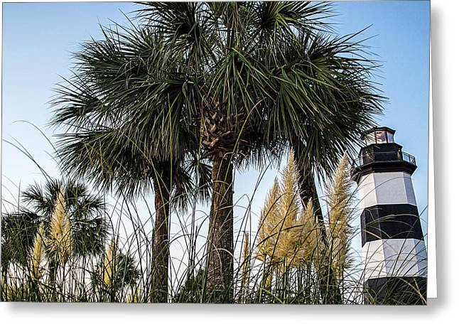 Palms At Lightkeepers Greeting Card