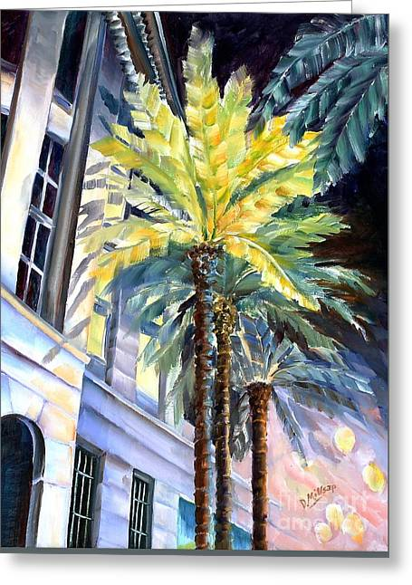 Palms In New Orleans Greeting Card by Diane Millsap