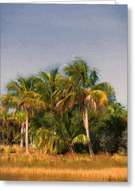Palms - Naples Florida Greeting Card by Kim Hojnacki