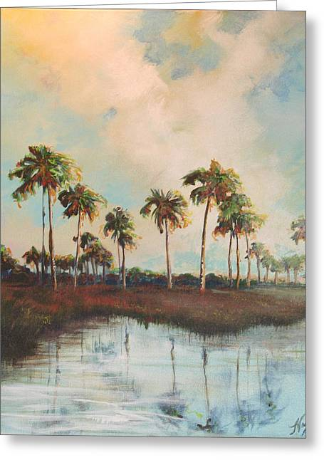 Palms Of Course Greeting Card by Michele Hollister - for Nancy Asbell
