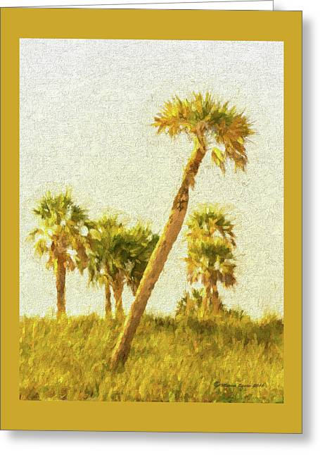 Palms On Canvas Greeting Card