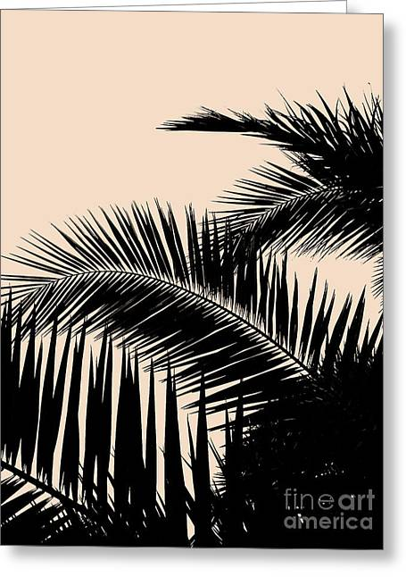 Palms On Pale Pink Greeting Card
