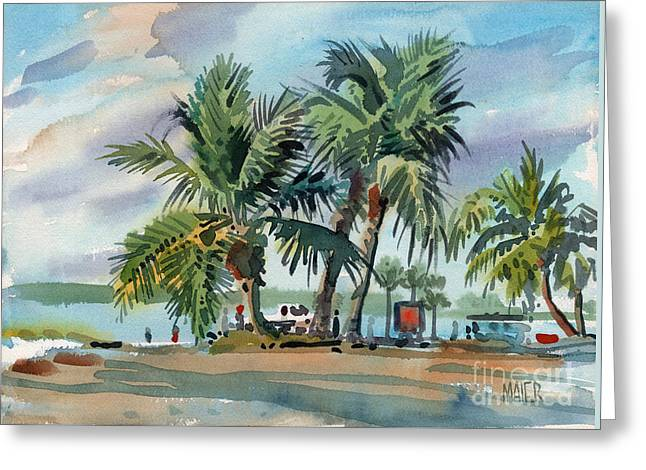 Palms On Sanibel Greeting Card by Donald Maier