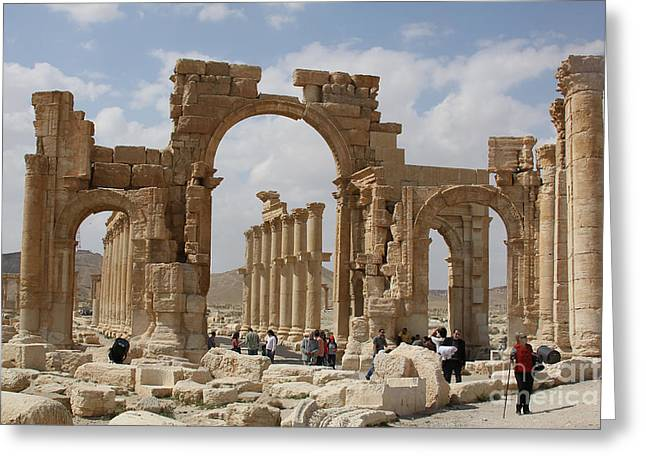 Palmyra Before...triumphal Arch Greeting Card