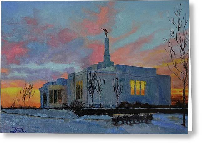 Palmyra Temple At Sunset Greeting Card