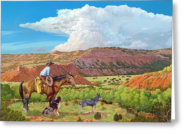 Palo Duro Serenade Greeting Card