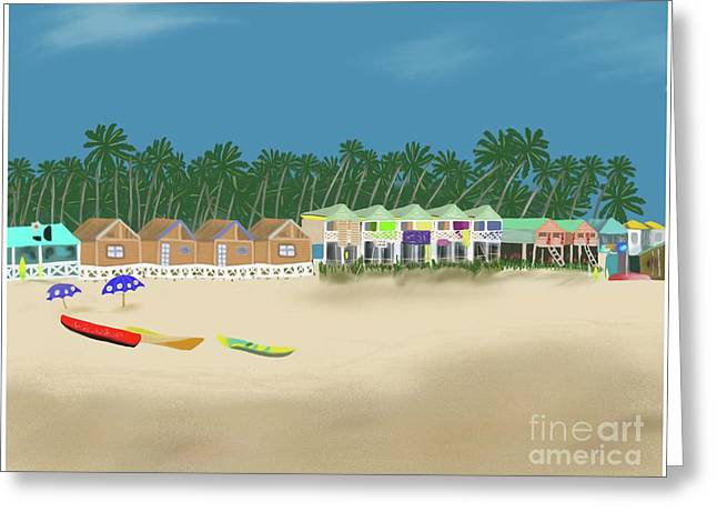 Palolem Beach Goa Greeting Card