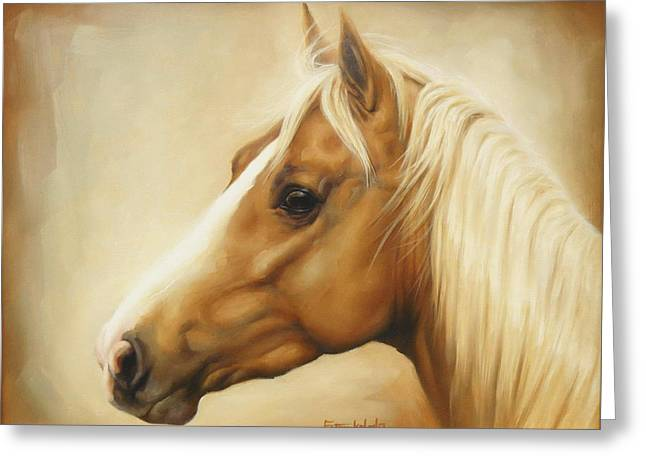 Palomino Greeting Card by Margaret Stockdale