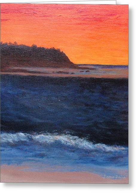 Greeting Card featuring the painting Palos Verdes Sunset by Jamie Frier