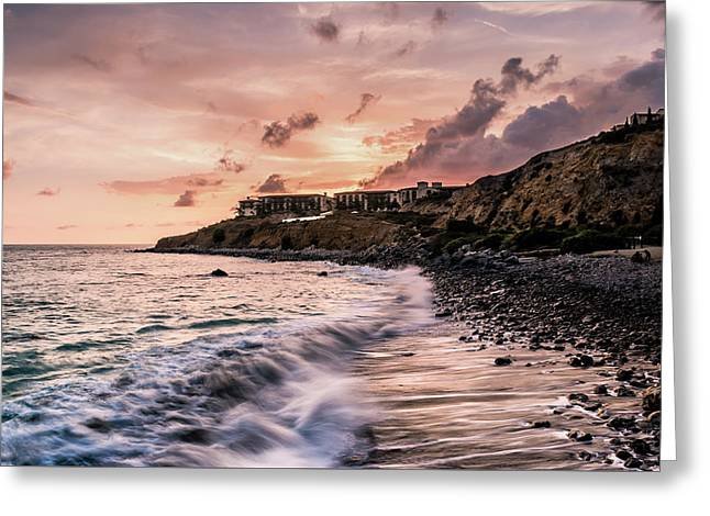 Palos Verdes Sunset Greeting Card by Seascaping Photography
