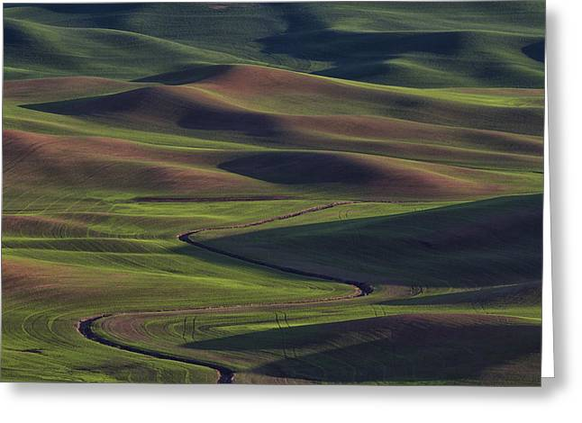 Palouse Abstract 1 Greeting Card by Mark Kiver