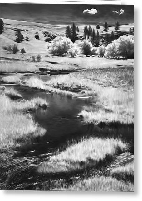 Palouse Back Roads II Greeting Card by Jon Glaser