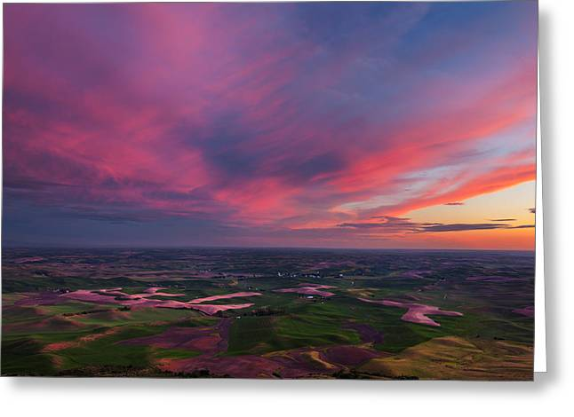 Palouse Color Explosion Greeting Card by Thorsten Scheuermann