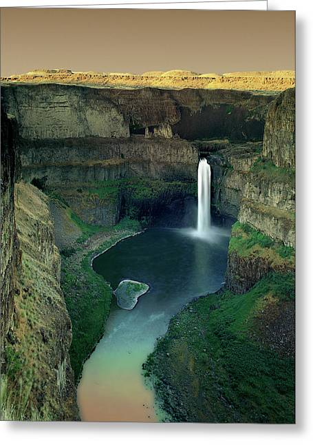 Palouse Falls Greeting Card by Jerry McCollum