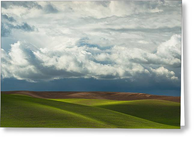 Palouse Hills Greeting Card by Thorsten Scheuermann