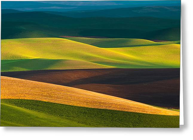 Palouse Layers Horizontal Greeting Card by Thorsten Scheuermann