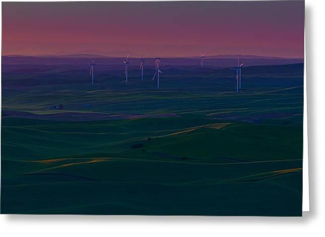 Palouse Sunset 2 Greeting Card by Thomas Hall