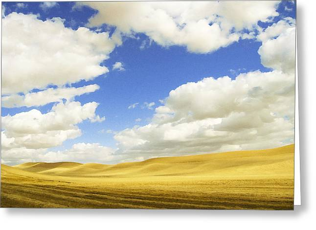 Palouse Valley Greeting Card by Anne Mott