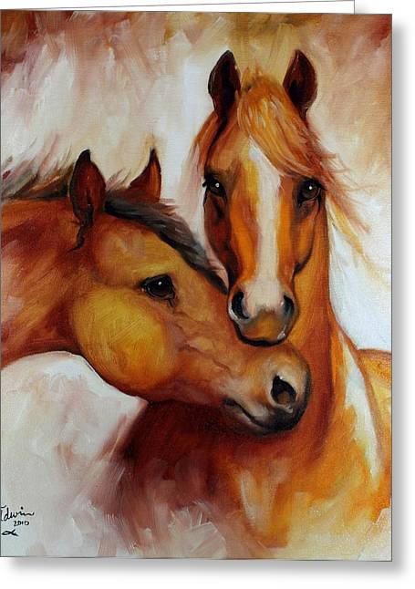 Sienna Greeting Cards - Pals Greeting Card by Marcia Baldwin