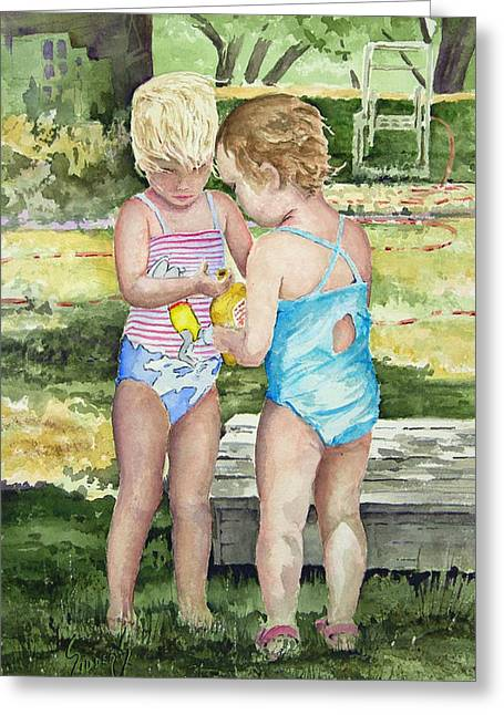 Pals Share Greeting Card by Sam Sidders
