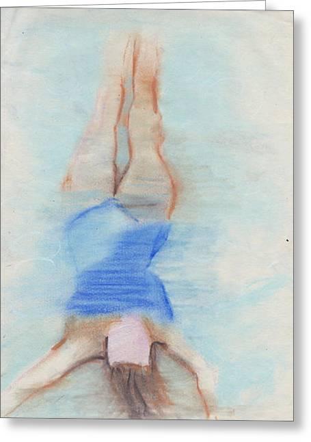 Pamela Underwater Greeting Card by Brad Wilson