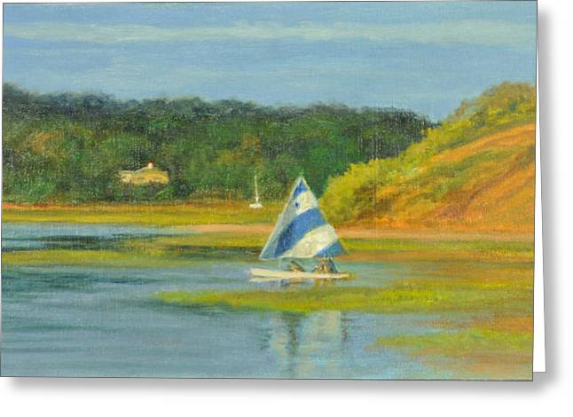 Pamet Harbor Early Evening Greeting Card by Phyllis Tarlow