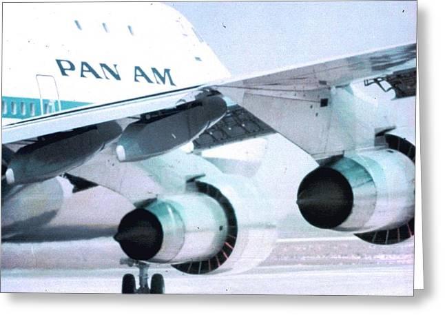 Pan Am 747 At Los Angeles International Airport Greeting Card