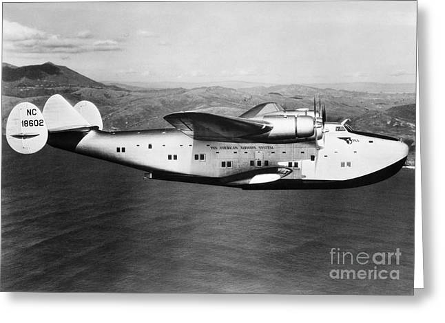 Pan American Clipper Greeting Card by H. Armstrong Roberts/ClassicStock