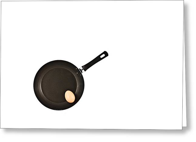 Negative Greeting Cards - Pan with Egg Greeting Card by Gert Lavsen